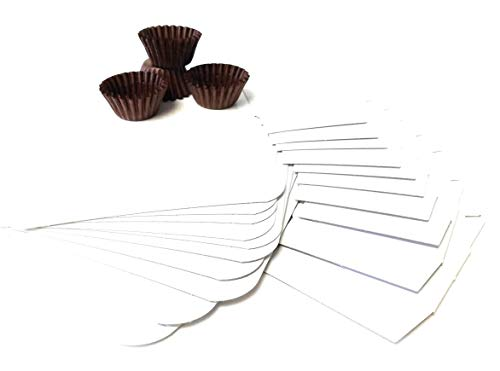 Eventware White Cardboard Cake and Candy Box, Perfect for Wedding Cake Slices, Candy Favors, Fudge, Cookies or Birthday Cake. Decorate and Share Your Homemade Chocolates and Treats Bundle (110 Pieces) ()
