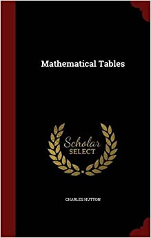 Book Mathematical Tables
