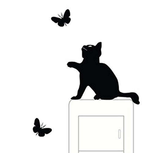 Wall Stickers Franterd Cat Light Switch Decor Decals Art Mural Baby Nursery Room