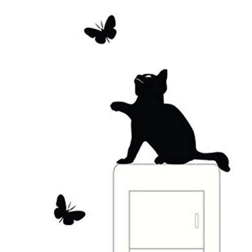 Wall Stickers, Franterd Cat, Light Switch Decor Decals, Art Mural Baby Nursery Room