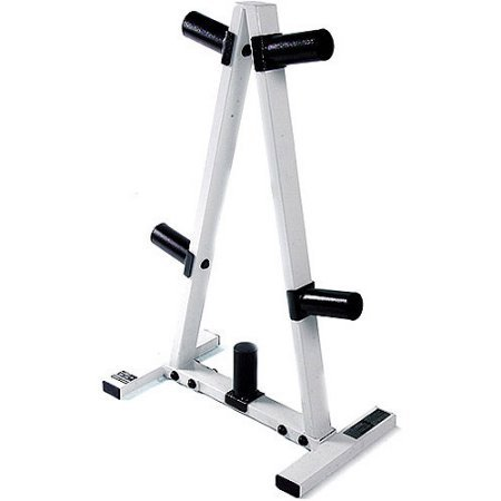 2'' Plate Hole Tree Olympic Plate Rack in Black/White by