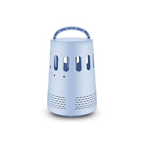 LED Electric Mosquito Killer Optical Media Mosquitoes Lamp Light Fly Bug Zapper Traps Home Garden Pest Control Supplies Summer   bluee