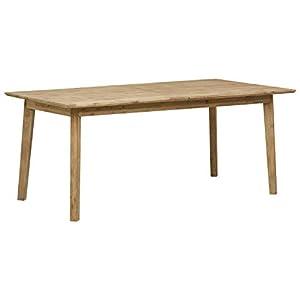 "Amazon Brand – Stone & Beam Rylee Modern Acacia Wood Dining Table, 71""-102""L, Gray-Wash Acacia"