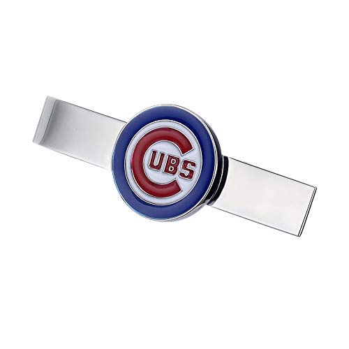 Promotioneer Mens Baseball The Team Logo Symbol Series Tie Bar Tie Clip with Gift -