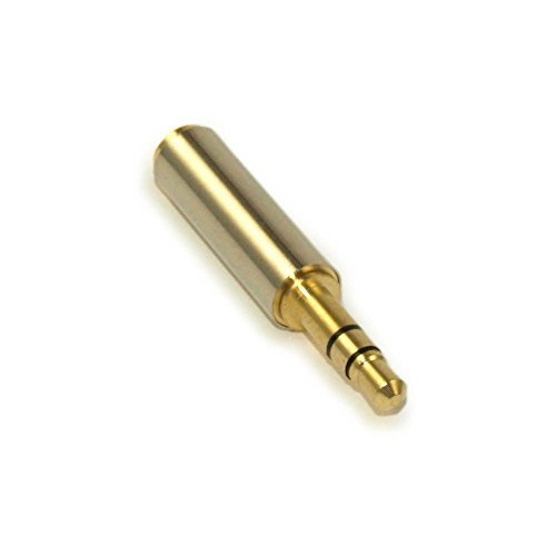 MyCableMart 3.5mm Male to Female Port Extender Shielded, Stereo TRS, Gold Plated