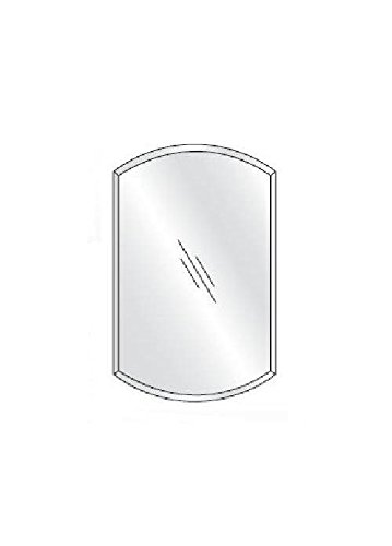 Afina SD2430RDBA-BV Single Door Recessed Double Arch Beveled Medicine Cabinet, 24″ x 30″