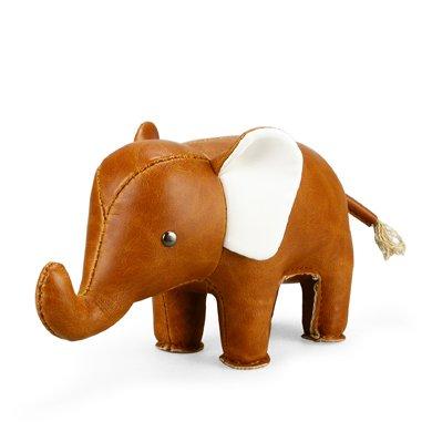 Zuny Classic Elephant Tan Animal Paperweight