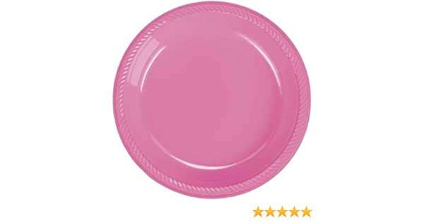 sc 1 st  Amazon.com & Amazon.com | Hot Pink Plastic Dinner Plate 20 Count: Dinner Plates