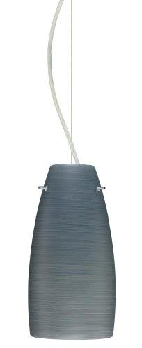 Besa Lighting 1KX-1512TN-SN 1X75W A19 Tao 10 Pendant with Titan Glass, Satin Nickel Finish ()