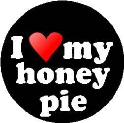 amazoncom i love my honey pie 125 pinback button badge pin heart love name clothing