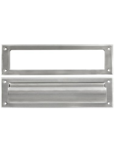 Mail Slot with Rear Access Finish: Brushed Nickel by Deltana (Image #1)