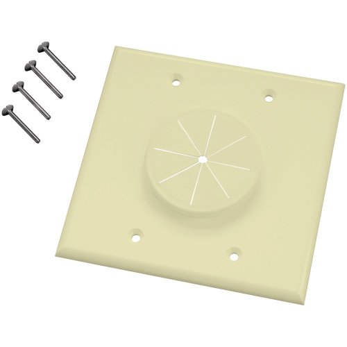 (MIDLITE 2GAL-GR2 Double-Gang Wireport(TM) Wall Plate with Grommet (Almond) Accessories Electronics)