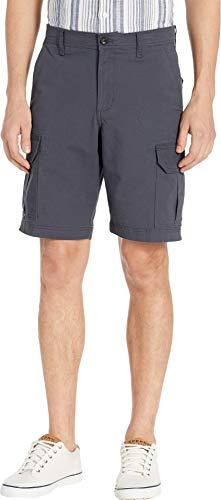 Chaps Men's Cotton Cargo Short, Mechanic Grey, 40