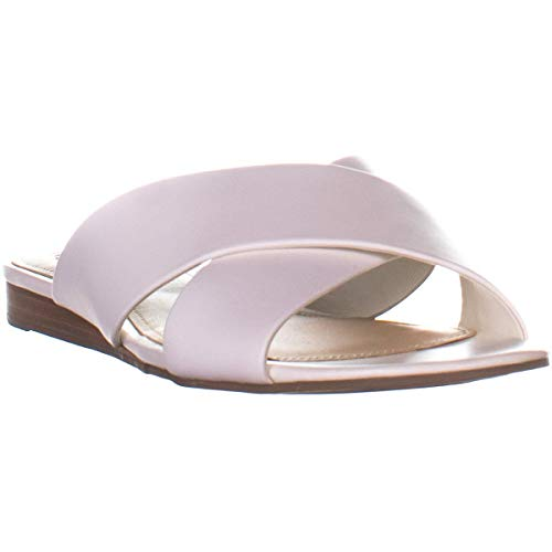 Guess Flashee Slip On Flat Sandals, White Leather, 7 US