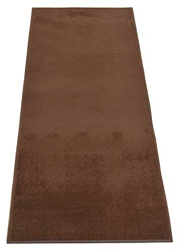 Custom Runner Solid Color Roll Runner 30 Inch Wide x Your Length Size Choice Anti Bacterial Slip Skid Resistant Rubber Back More Color Options Available Euro Collection (Brown, 14 ft x 30 in) (30 Inch Runner)