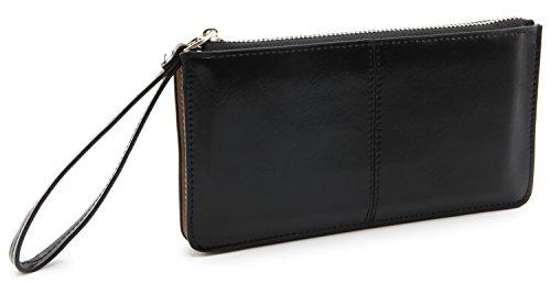 DEEZOMO Womens Leather Clutch Samsung