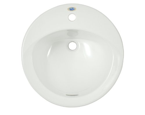TOTO Lt512G#01 Ultimate 1-Hole Self Rimming sanagloss Lavatory, Cotton ()