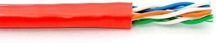 1000FT Red Cat5e Stranded Riser UTP 350Mhz Network Cable