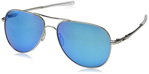 Oakley Elmont Polarized Round Sunglasses, SATIN CHROME, 60.0 ()