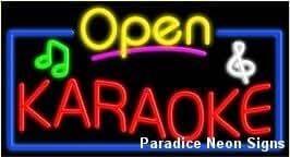 Open Karaoke Neon Sign