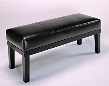 Bench with Bycast Leather Like Espresso Finish By H.P.P