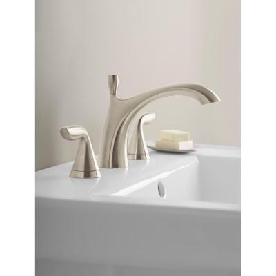 Kohler R99901-4D-BN Williamette Widespread Bathroom Sink Faucet, Vibrant Brushed Nickel