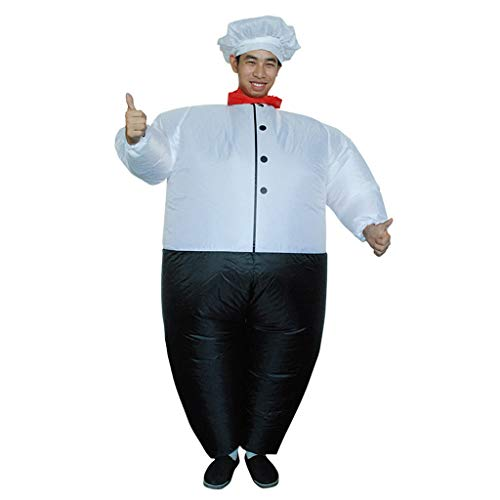 JOFOW Inflatable Costume Chef Suit Clothes Funny