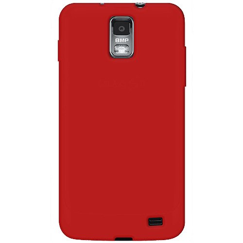 Amzer Silicone Skin Jelly Cover Case for Samsung Galaxy S II Skyrocket SGH-I727 - Retail Packaging - Red (Samsung Skyrocket Accessories)