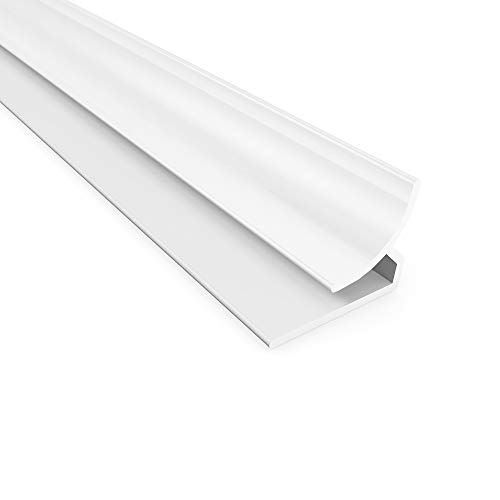(Fasade - 4 ft Decorative Vinyl Inside Corner Trim Matte White)