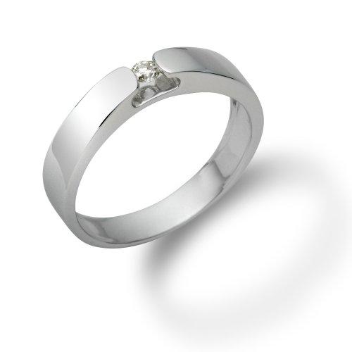 Miore - M0250W - Bague de Fiançailles Femme - Or blanc (18 carats) 3.72 gr - Diamant 0.07 Cts