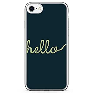 iPhone 7 Transparent Edge Phone Case hello Phone Case Girl Phone Case Fashion Phone Case Green