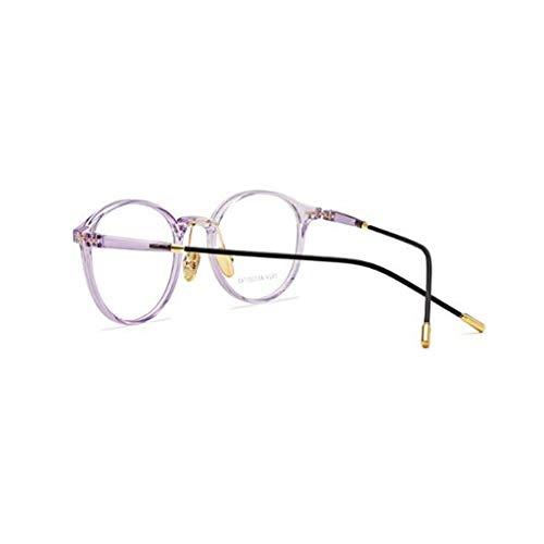 Mirror Cadre Light Style Pourpre Pour Avec buée Lunettes Unbekannt Femme Flat Grand Eye Rétro Anti Color 1CxRUznwq