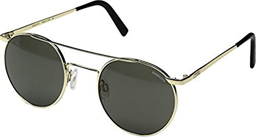 Randolph P3 Shadow Sunglasses Gold 23K/Skull/Glass Gray AR 4