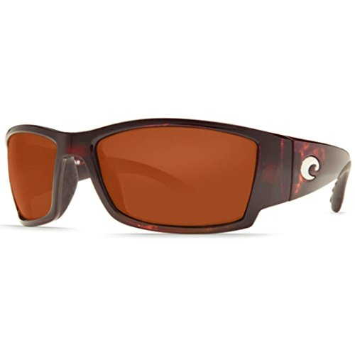 - Costa Del Mar Sunglasses - Corbina- Glass / Frame: Tortoise Lens: Polarized Copper Wave 580 Glass
