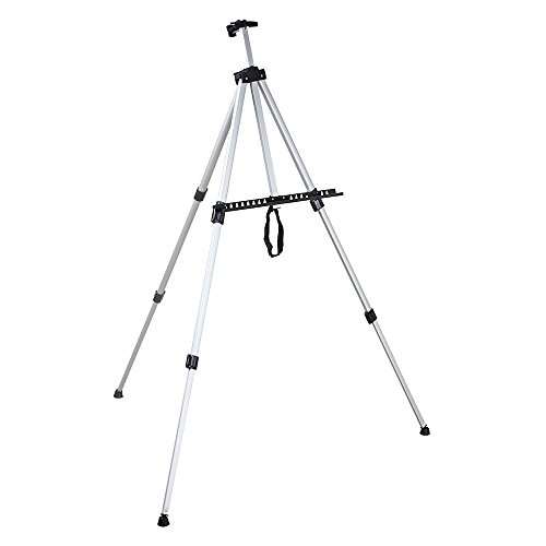Aluminum Folding Easel Artist Field Display Presentation Exhibition Picture Holder Adjustable 63'' Tripod Stand Lightweight with Carry Bag for Outdoor Floor Tabletop Drawing Painting Sketching by Flexzion