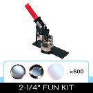 """2-1/4"""" Button Maker Kit for do it yourself button making – People Power Press for Custom Buttons, Button Makers, Button Machines and Button & Pin Parts"""