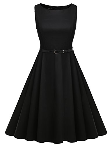 ACEVOG-Women-50s-Rockabilly-Audrey-Dress-Retro-Cocktail-Dress-with-Belt