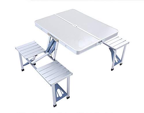 BZR-MY Mesa Plegable al Aire Libre y sillas Juego de Mesa portátil ...