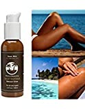 Self Tanner Sunless Tanning Lotion - Natural Healthy Beautiful Golden Glow for Body & Face, Gradual & Even Buildable Bronzer
