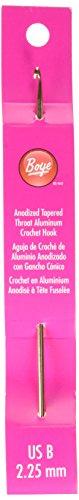 "Boye Aluminum Crochet Hook 6""-Size B1/2.25mm"