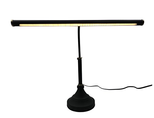 HomeFocus LED Piano Desk Table Lamp,Reading Desk Table Lamp,Study Lamp,Touch Dimmable,Adjustable Height, Multi-functional ,Metal,Black +Bronze,LED 5W,3000K,Play Piano,Reading or Office Working,Eye Ca