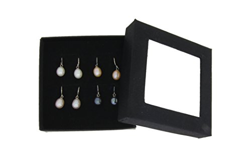 Colored Freshwater Cultured Pearl Dangle Earrings in Sterling Silver,