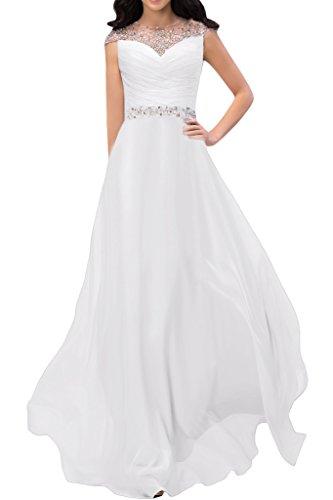 Missdressy -  Vestito  - linea ad a - Donna bianco 54