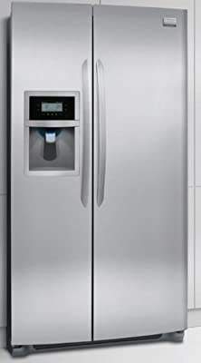 """Frigidaire Gallery DGUS2645LF 36"""" 26 cu. ft. Freestanding Side-by-Side Refrigerator in Stainless Steel"""