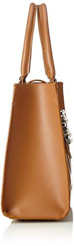 Chicca Borse Damen 8881 Henkeltasche, 34x26x13 cm Marrone (Cuoio)