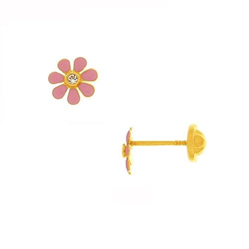 www.diamants-perles.com - Boucles d'oreilles enfant - Or jaune - 9 carats - Lucky