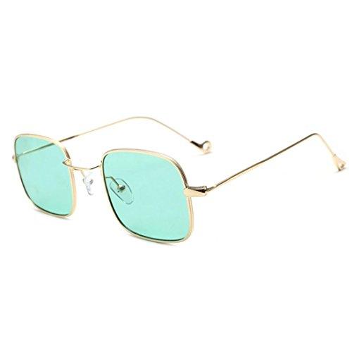 A Malloom Quadrate soleil verres UV ont de Shades Les coloré des Lunettes colorés femmes intégrés gxw6pwqHO