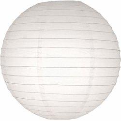 Paper Lantern, Round, Even Ribbing, 18 Inch, White