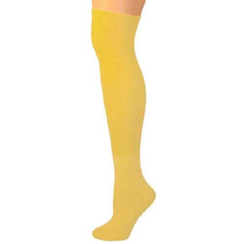 5b1604a9bb609 Amazon.com: AJs Thick Solid Knee High Tube Socks - Black: Clothing