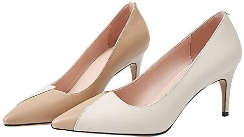 1583813d084d 7cm Glisser Calaier Femme Beige Sur Chanjlc Bout Chaussures Escarpins  nbsp pointu q1xHxZOIw